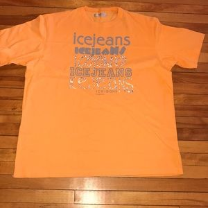 EUC✨Retro Iceberg Ice Jeans Reflective T-shirt